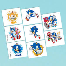 sonic the hedgehog party supplies sonic the hedgehog party supplies sonic hedgehog temp tattoos