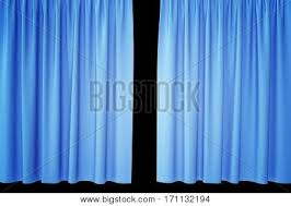 Blue Silk Curtains Blue Open Stage Curtain Images Illustrations Vectors Blue Open