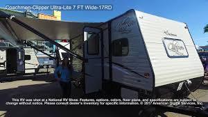 coachmen travel trailer floor plans coachmen clipper ultra lite 7 ft wide 17rd youtube