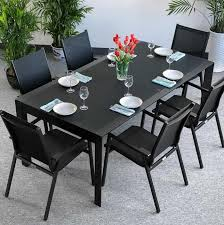 10 chair dining table set dining table set violet black 10 person aluminium glass