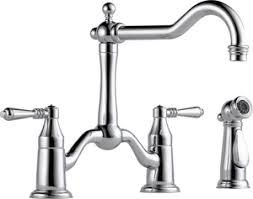 brizo tresa 1 8 gpm 3 hole double lever handle kitchen faucet