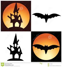 halloween graphics free vector halloween symbols castle and bat royalty free stock image
