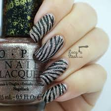 textured zebra print nail art design lucy u0027s stash