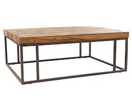 wood and metal sofa table reclaimed wood and metal base coffee table contemporary rustic