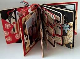 wallet size photo album combination mini album with handmade envelopes used for flags