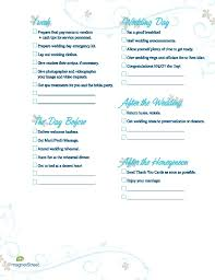 bridal wedding planner wedding planning checklist