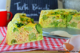 cuisiner le brocoli tarte brocoli saumon fromage de chèvre brian iz in the kitchen