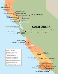 santa california map a blissful road trip through california s winelands