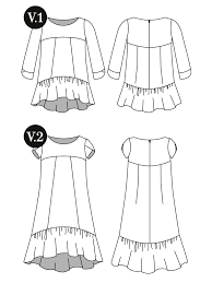 design pattern of dress the azaire gather sewing patterns