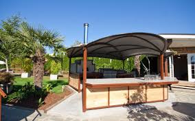 Outdoor Kitchen Faucet Kitchen Design Covered Outdoor Kitchen U Shape Stone Cabinet And