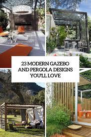 23 modern gazebo and pergola design ideas you u0027ll love shelterness