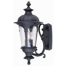 Hampton Bay Exterior Wall Lantern by Hampton Bay Renaissance Wall Mount 3 Light Outdoor Black Lamp