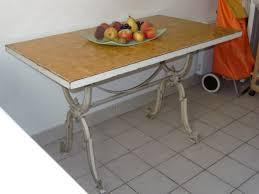 table cuisine bistrot table bistrot cuisine ou terrasse table fonte dessus carreaux de