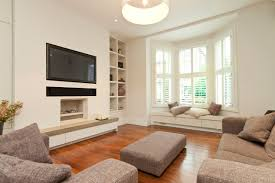 architecture tv over fireplace with mid century modern wall unit