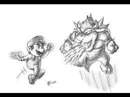 special mario bowser drawing 2000 subs