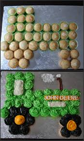 pull apart cupcake cakes lots of cute ideas tractor cupcake cake