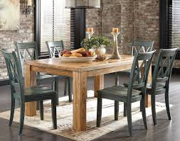 dining room distressed wood dining table set on dining room within