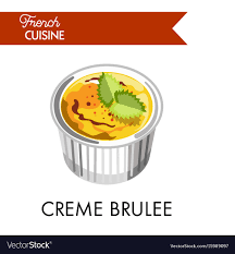 cuisine creme brulee creme brulee from cuisine in special vector image
