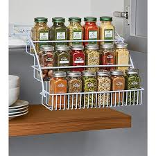 Narrow Spice Cabinet Pull Out Spice Rack Rubbermaid Pull Down Spice Rack The