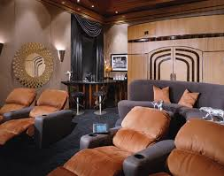 deco home interior deco theater modern home theater los angeles by fran