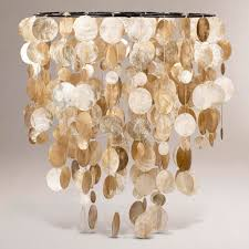 interior white capiz shell chandelier for your house decor idea