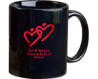 personalized mugs for wedding personalized black coffee mug wedding favors