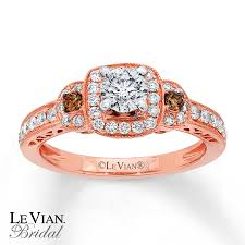 levian wedding rings le vian engagement ring 3 4 ct tw diamonds 14k strawberry gold
