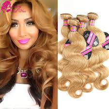 ali express hair weave brazilian virgin hair 4 bundles body waves 27 honey blonde