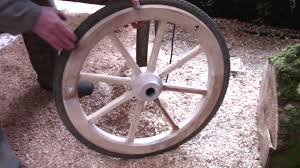 how to make wooden wheels with bicycle rims and tyres youtube
