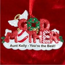 godmother personalized ornaments by