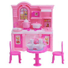 dollhouse kitchen simulation furniture set dining table cabinet
