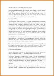 Resume For Maintenance Engineer Aircraft Maintenance Resume Legal Resignation Letter