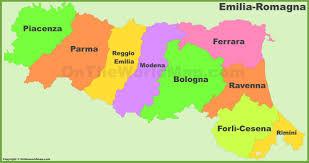 Bologna Italy Map by Emilia Romagna Provinces Map
