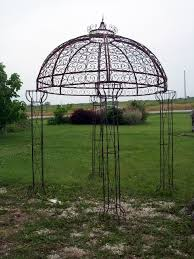Discount Gazebos by Wrought Iron Jester Arbor Gazebo Garden Arch Dome Ideas