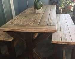 reclaimed wood outdoor table outdoor dining table etsy