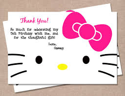 hello kitty inspired thank you card by perfectprintsstudio on etsy