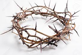 crown of thorns on a white background easter religious motif