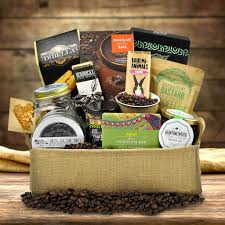 coffee gift basket ideas coffee gift baskets the free trade gourmet coffee gift basket