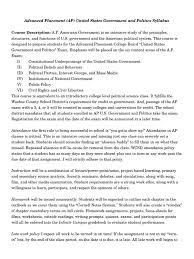 advanced placement government and politics syllabus 2016