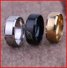 black bands rings images Titanium naruto uzumaki finger rings tail rings thumb ring women jpg