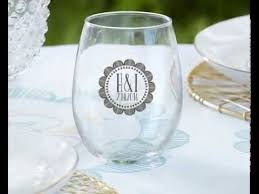 stemless wine glasses wedding favors personalized stemless wine glass wedding favors