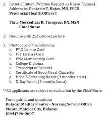 Sample Volunteer Resume by Example Of Application Letter As Volunteer Nurse