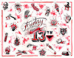 friday the 13th special red tattoo
