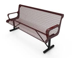 rhino 6 foot contour thermoplastic metal bench with back quick