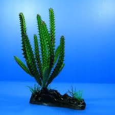 cactus aquarium ornament 7 6 decor tree plastic plants fish tank