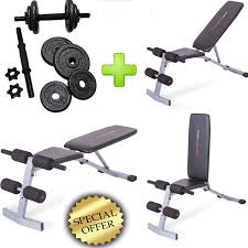 bench weight set adjustable cap dumbbells 40 lbs abs gym workout