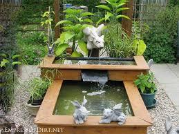 garden pond ideas water fountain images gardening flowers 101