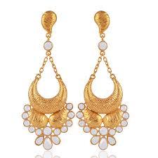 gold chandelier earrings jhumka online buy silver fashioned out golden chandelier earring