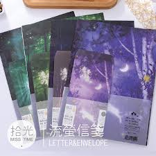 writing paper set online get cheap writing paper set aliexpress com alibaba group 6 sheet letter paper 3 pcs envelopes fireflies forest glow letter pad set