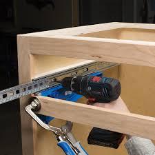 How To Install Kitchen Cabinet Drawer Slides Kreg Tool Company Khi Slide Drawer Slide Jig Amazon Com